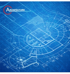 Architectural blueprint vector