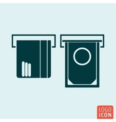 ATM icon isolated vector image