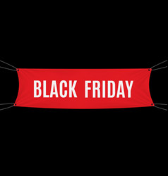 black friday red textile banner template vector image