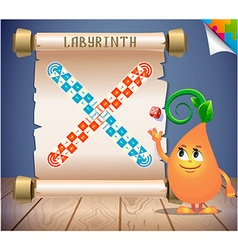 Board game labyrinth vector image