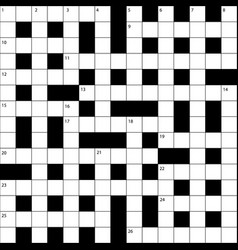 British crossword grid vector
