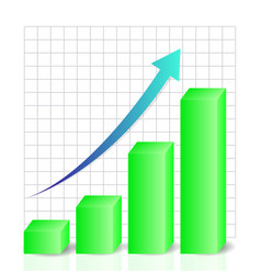 business chart graphic graph data vector image