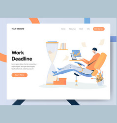 businessman working on deadline concept modern vector image