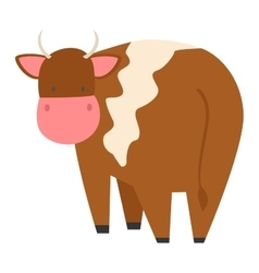Cartoon cow character vector