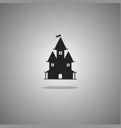 Castle halloween isolated vector