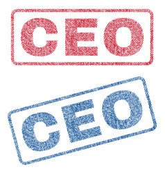 Ceo textile stamps vector