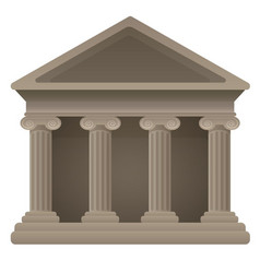 Classic museum with large columns vector