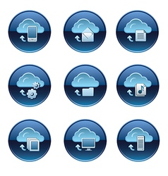 cloud icon set vector image