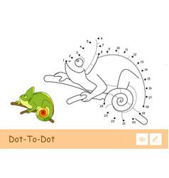 Colorless contour dot-to-dot image a vector