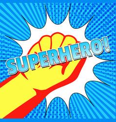 Comic superman bright concept vector