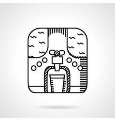 Cooler simple line icon vector
