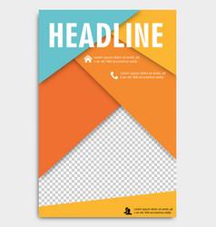 Corporate brochure flyer design layout template vector