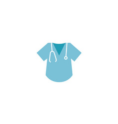 Doctor shirt and stethoscope for heart rate vector