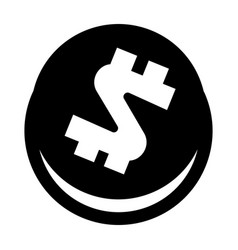 dollar coin icon simple style vector image