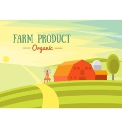 Farm Product Organic vector image vector image