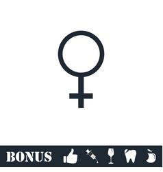 Female icon flat vector