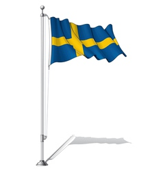 Flag Pole Sweden vector image