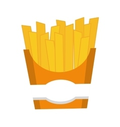 French fries icon Fast food design vector