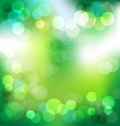 Green elegant abstract background with bokeh vector image