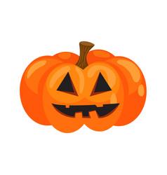 halloween pumpkin with silly face cartoon vector image
