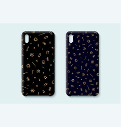 happy new year pattern template phone case vector image