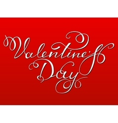 Happy valentine s day lettering vector