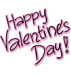 Happy Valentines Day - text vector