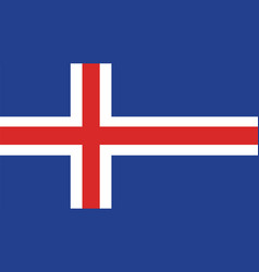 Iceland flag for independence day and infographic vector