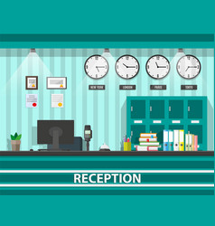 Interior of modern reception vector