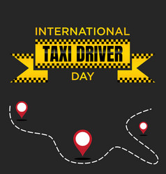International taxi driver day template design for vector