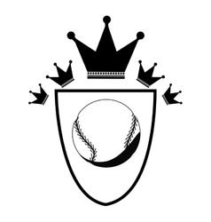 Isolated ball of baseball design vector image