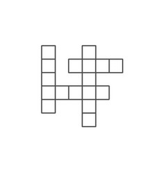 Isolated crossword flat icon guess element vector