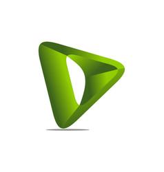 letter d modern vector image