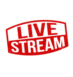live stream sign or stamp vector image