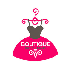Luxury boutique with expensive exclusive dresses vector