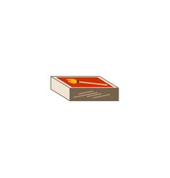 Matches box flat vector