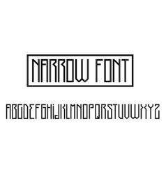 Modern gothic font vector