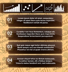 Modern infographic template with charts and space vector image