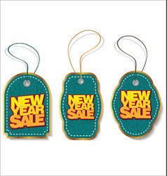 new year sale price tag vector image