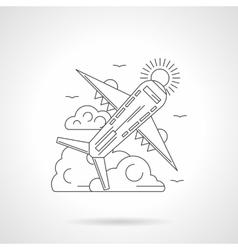 Passenger airliner line detail vector image
