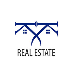 real estate logo concept design symbol graphic vector image