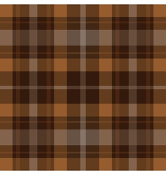 seamless brown black tartan - white stripes vector image