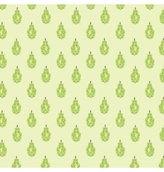 Seamless pattern with geometric pears vector image
