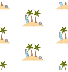 seamless summer pattern with isolated island vector image
