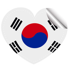 sticker design for flag of south korea vector image