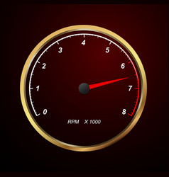 tachometer on black background vector image