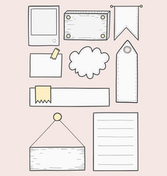 Tag banner for diary planner vector