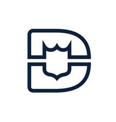 Technology security logo design or monogram or vector