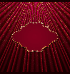 The frame on a red background with gold polka dots vector