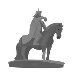 The monument to the military of mongolia on vector